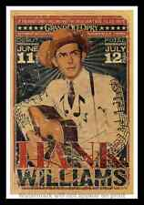 "Framed Vintage Style Rock n Roll Poster ""HANK WILLIAMS""; 12x18"
