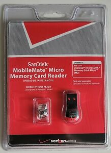 ScanDisk Verizon Wireless MobileMate Micro Memory Card Reader NWT