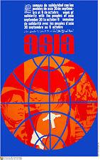 Political Cuban POSTER.Solidarity with ASIA.Asian. as2.Revolution Art Design