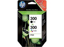 Original Genuine HP 300 Black + CoIour Ink Cartridges Combo Set Deskjet F2480