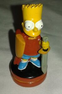 The Simpsons 3D Chess Set Replacement Bart Red Bishop Token Piece Part 2001 Fox