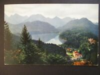 1923 Blaichach to Berling Germany Scenic Hohenschwangau Inflation Postcard Cover