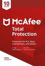 McAfee Total Protection 2018, 10 Multi-Devices, 1 Year (LATEST DOWNLOAD VERSION)
