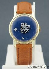 Vintage wind-up Gemini Zodiac Mystery Dial Horoscope Character Watch