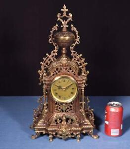 *Vintage Neo Gothic Bronze Clock Battery Powered Clock Works