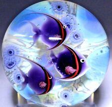 Gorgeous LUNDBERG Studios TIDEPOOL w TROPICAL Fish Glass by SALAZAR PAPERWEIGHT