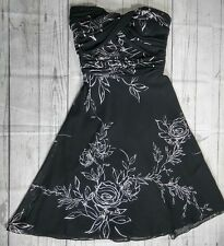 White House Black Market Womens Dress Size 0 Strapless Floral Formal Wedding