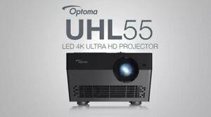 Optoma UHL55 Portable 4K HDR LED Smart Projector