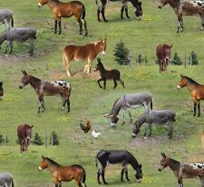 quart ânes âne animaux de la ferme COTON COUTURE TISSU PATCHWORK