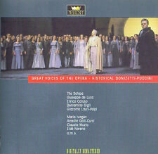 Great voices of the Opera-Historical Donizetti-puccini CD (2cd) DOUBLE CD
