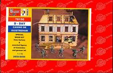 BUM Models 1/72 D-DAY CASINO OF OUISTREHAM Wood Kit & Figure Set
