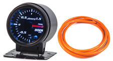 "52mm 2"" Turbo Boost Gauge Bar Digital Sensor /Analogue Display + Orange Hose"