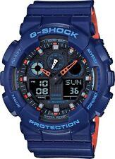 BRAND NEW CASIO G-SHOCK GA100L-2A ANA-DIGI BLUE/ORANGE MEN'S WATCH NWT!!!!!