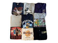 New ListingLot Of 9 Wholesale Men's Vintage T shirt 80s 90s Disney Harley Nike Sports Band