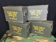 Lot of 4 US Military Surplus .30 Cal M19A1 7.62mm Ammo Can Metal Storage Box EUC