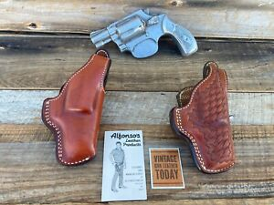 Vintage Alfonsos Brown Leather Lined Revolver Holster for S&W 36 Chiefs Special