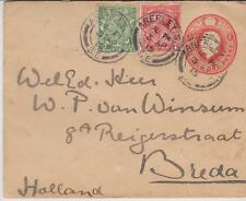 Old Cover Anerley(UK) to Breda 1915 with MI 125 & MI 128 United Kingdom RARE