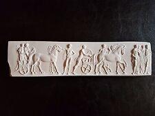 One Miniature Fine Art Antique Italian Roman plaster Pictorial Sculpture Plaque