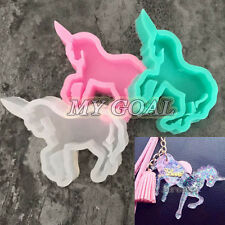 Unicorn Horse Silicone Resin Mold Pendant Jewelry Making Craft Tool DIY Necklace