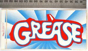 GREASE 1978 Vinyl Sticker, International Sticker