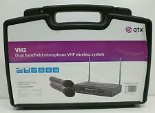 QTX VH2 Dual Handheld Microphone Twin VHF Wireless System #ET