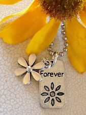 Forever Forget Me Not Flower Necklace. Love. Bloom. Daisy. Sunflower. Gift