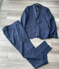 14th & Union Navy Blue Trim Fit Suit Tuxedo 40R Jacket Pants