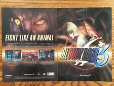 Bloody Roar 3 Playstation 2 PS2 2001 Video Game Poster Ad Advert Art Print Rare
