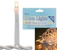 50 Total Bright Indoor Clear Teeny Bulbs Rice Lights String Strand White Cord