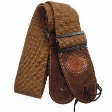 More details for soft leather guitar strap adjustable electric acoustic guitars bass webbing belt