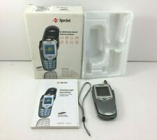 Samsung Sprint SPH-N400 UNTESTED Dual Band/Tri Mode Flip Phone Camera Combo