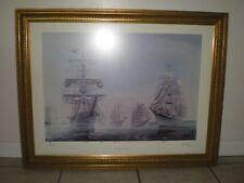 Kipp Soldwedel SIGNED  1976 New Port Harbor International Ships Lithograph Print