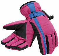 Women Cold Weather Winter Warm Waterproof Ski Snow Skiing Snowboard Gloves