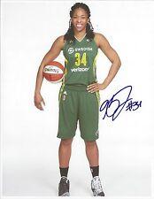 KRYSTAL THOMAS Signed 8.5 x 11 Photo WNBA Basketball WASHINGTON MYSTICS Storm