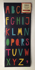 Alphabet Stickers Multi Coloured by Tesco 6 Sheets Craft Gift Tags Crafting