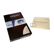 Conqueror Set CX22 Creme A4 Papier und Fenster Briefumschläge Din Lang Set