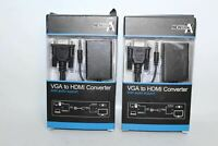 NEWLINK VGA To HDMI Converter Cable With Audio Support & Manual Pack Of 2 NEW