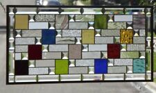 "• Spice of Life •Beveled Stained Glass Window Panel • 33 3/4"" x 15 5/8"""