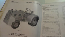 Chrysler side valve engines & Clark Tructractor maintenance manual & parts book.