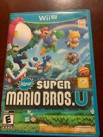New Super Mario Bros. U (Wii U, 2012) played once game and case ship out fast