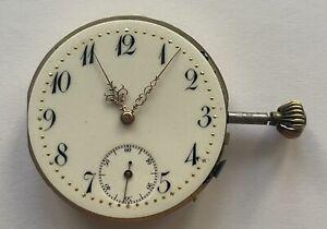 Herren Taschenuhr Uhrwerk Savonette Werk für Uhrmacher (funktionstüchtig)