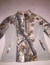 Womens Camo SHE Outdoor Apparel S Pullover Hunting 1/4 Zip Up Sweater