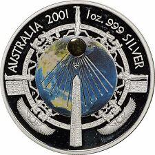 2001 Australia Proof Silver 1 oz Millennium Coin - In Original Capsule