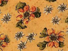 Fabric Sunflowers Golden Yellow on Yellow Cotton 1 Yard S