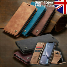 CaseMe Suede Leather Wallet Case Stand Flip Cover for iPhone 7 8 + Xr 11 Pro Max