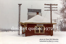 Canadian National Rwy  station Dosquet Quebec 1972