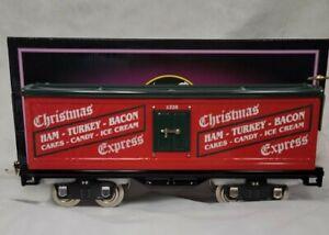 MTH 10-2224 Tinplate Traditions Standard Gauge 514 Christmas Car NEW RARE!!!