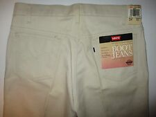 LEVI'S Vintage Saddleman Sta Prest Boot Jeans Dress Pants 34x31 Beige NWT USA
