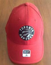 Toronto Raptors NBA Hat Cap Hat Basketball Adidas New Logo Flex Fit One Size New