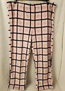 Faded Glory Womens Multi Color Plaid Fleece Sleep Lounge Pants Size 3X 22W 24W
